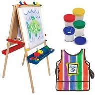 Melissa and Doug Easel, Smock & Paint Cup - click to enlarge