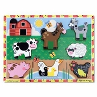 Melissa and Doug Farm 3723 Wooden Chunky Puzzle - click to enlarge