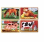 Melissa and Doug Farm Animals Puzzles in a Box