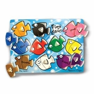 Melissa and Doug Fish Colors Mix N Match Peg Puzzle - click to enlarge