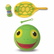 Melissa and Doug Froggy Kickball & Tootle Turtle Bubble Bundle - click to enlarge