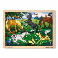 Melissa and Doug Frolicking Horses Jigsaw (48 pc) - click to enlarge