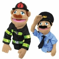 Melissa and Doug Police Officer & FireFighter Puppets - click to enlarge