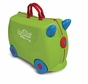 Melissa and Doug Ride-On Traveling Luggage Trunki : Jade (Green)