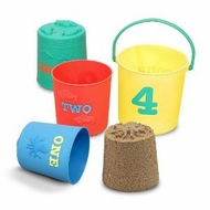 Melissa and Doug Seaside Sidekicks Nesting Pails - click to enlarge