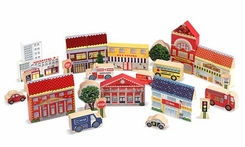Melissa and Doug Town Blocks Play Set - click to enlarge