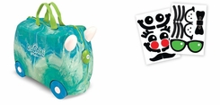 Melissa and Doug Trunki Green Swizzle Ride On Luggage with Matching Saddlebag and Stickers - click to enlarge