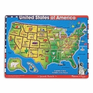 Melissa and Doug U.S.A. Map Sound Puzzle - click to enlarge