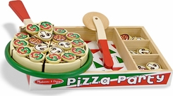 Melissa & Doug 167 Pizza Party Play Food Set - click to enlarge