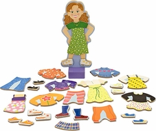 Melissa & Doug 3552 Maggie Leigh Magnetic Dress-Up Playset - click to enlarge