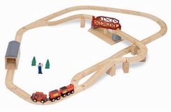 Melissa & Doug 704 Swivel Bridge Train Set - click to enlarge