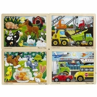 Melissa & Doug Deluxe Fresh Start Jigsaw Puzzle Bundle 12 Piece (Set of 4) - click to enlarge