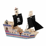Melissa & Doug Deluxe Pirate Ship Play Set - click to enlarge