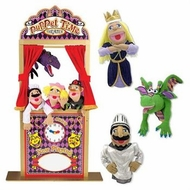 Melissa & Doug Deluxe Puppet Theater Bundle w/ Smoulder the Dragon, Knight & Princess - click to enlarge