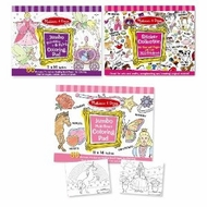 Melissa & Doug Girls Sticker Pad / Coloring Books Bundle - click to enlarge