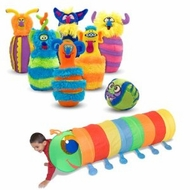 Melissa & Doug Monster Plush Bowling Game with Happy Giddy Crawl Tunnel - click to enlarge
