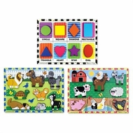 Melissa & Doug Set of Three 8 Piece Chunky Puzzles - click to enlarge