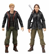 NECA The Hunger Games Movie Katniss Everdeen & Peeta Mallerk 6.75 inch Figures - click to enlarge