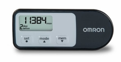 Omron HJ-321 Tri-Axis Pedometer - Black - click to enlarge
