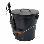 Panacea 15343 Ash Bucket with Shovel, Black - click to enlarge