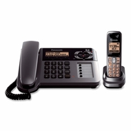 Panasonic KXTG1061M Cordless/Corded Phone with Answering Machine, Metallic Grey - click to enlarge
