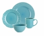 Paula Deen 58133 Signature Whitaker 16-Piece Dinnerware Set - Aqua