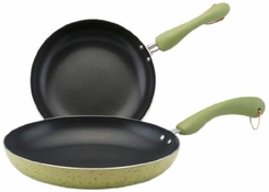 Paula Deen 9-Inch and 11-Inch Porcelain Cookware Skillets, Twin Pack - click to enlarge