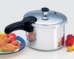 Presto 01241 4 Quart Aluminum Pressure Cooker - click to enlarge