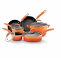Rachael Ray 11500 Porcelain Enamel II Nonstick Cookware Set - 10-Piece