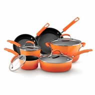 Rachael Ray 11500 Porcelain Enamel II Nonstick Cookware Set - 10-Piece - click to enlarge