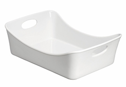 Rachael Ray 58160 9inx 13in Stoneware Rectangular Lasagna Pan, White - click to enlarge