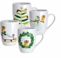 Rachael Ray 58340 Dinnerware Holiday Hoot 4 Piece Mug Gift Set