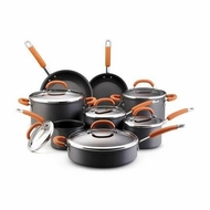 Rachael Ray 89165 Hard Anodized Nonstick 14 Piece Cookware Set, Orange - click to enlarge