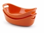 Rachael Ray Bubble and Brown Set of 2 Stoneware 12-Oz. Au Gratin Dishes