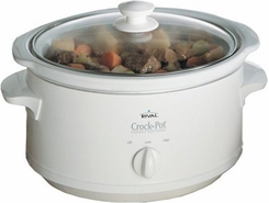 Rival 3735WN 3.5 Quart CrockPot Slow Cooker - click to enlarge