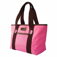 Sachi 11-027 Insulated Fashion Lunch Tote, Pink/Brown