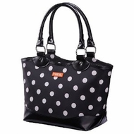 Sachi 36-037 Black with White Dot Bag - click to enlarge