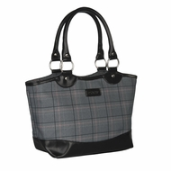 Sachi 36-097 Insulated Lunch Bag, Grey Plaid