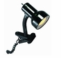 Satco Products SF76/226 Flexible Goose Neck Clip on Lamp with Coiled Cord, Black