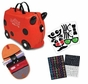 Trunki by Melissa & Doug Ride-On Kids Luggage - Ruby Red Includes Matching Saddle Bag and Decorative Sticker Set