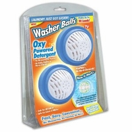 Washer Balls with Oxy Powered Detergent Laundry Balls- Set of 2 - click to enlarge