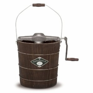 White Mountain NDWMIMH411 4-Quart Wooden-Bucket Manual Hand-Crank Ice-Cream Maker - click to enlarge
