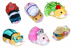 Zhu Zhu Pets Outfit Set- Includes: Wet Suit w/Goggles, Soccer, Sailor, Ballerina, Sundress w/Hat, and Hula - click to enlarge