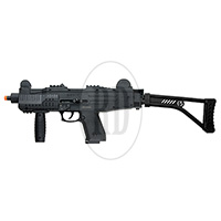 ASI Fully Automatic Front Firing Blank Pistol Matte Black Finish with Stock