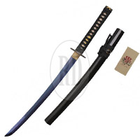 "Blue Rising Carbon Steel 32"" Sword - Blue, Gold, or Rose Gold"