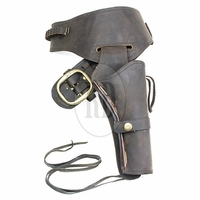 Brown Oiled Leather Fast Draw Holster