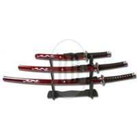 Burgundy Dragon Samurai Set