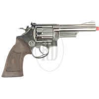 Chrome Police 12 Shot Cap Revolver