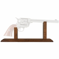 Dark Wood Pistol Display Stand