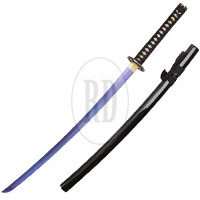 Handmade Blue Carbon Steel Blue Rising Katana